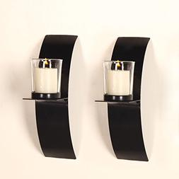 Homebeez Wall Hanging Candle Holder Set of 2