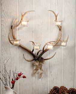 Wall Sconce Candle Holder Rustic Home Cabin Decor Metal Antl