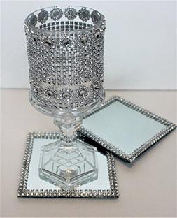 set of 10 wedding table Coasters Mirror emblished Rhinestone