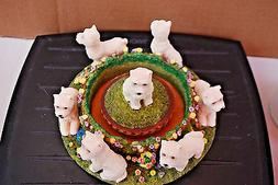 WESTIE Continental Creations #P761 Jar Circle With Topper Ca