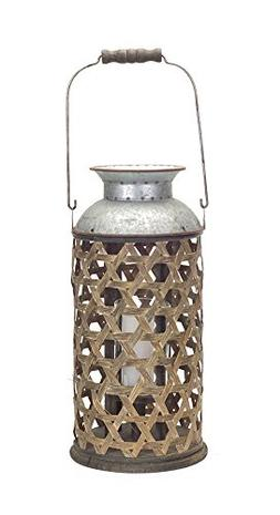 """Wicker Candle Holder 15.75""""H"""