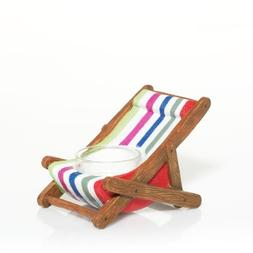 Yankee Candle Wicker Collection Striped Lounge Chair Tea Lig