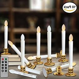 Window Candles with Remote Timers Battery Operated Flickerin