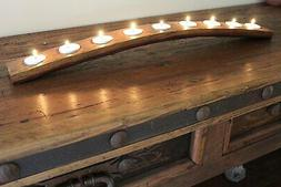 wine barrel 9 candle holder made from