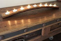 Wine Barrel 9 Candle Holder Made From Recycled Oak Wine Barr