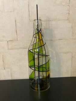WINE BOTTLE Tea Light CANDLE HOLDER Indoor/Outdoor New!!