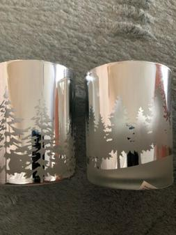 Yankee Candle  WINTER TREES SILVER Tealight LUMINARY CANDLE
