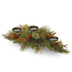 National Tree 30 Inch Wintry Pine Collection Centerpiece wit