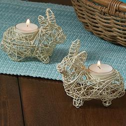 Park Designs Wire Bunny Tea Light Holders Set of 2