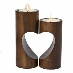 Wood Decorative Tea Light Candle Holder Home Decor Table Cen