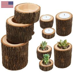 Wood Wooden Tea Light Candle Holder Candlestick Stand Base W