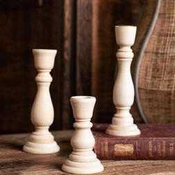 Wooden Candlesticks Table Candle Holder Rack Home Wedding De