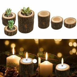Wooden Pillar Design Candle Holder Stand Candlestick for Par