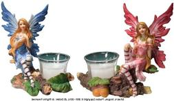Nose Desserts Woodland Fairies Votive Candle Holders 2-pc Se