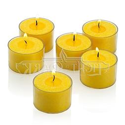 Citronella Tealight Candles with Clear Cup - Set of 72 Summe