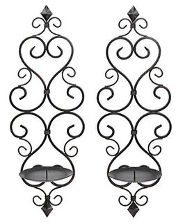 Zingz and Thingz Fleur-De-Lis Wall Sconce Duo Set of 2